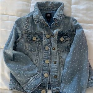 Gap denim jacket with polka dots